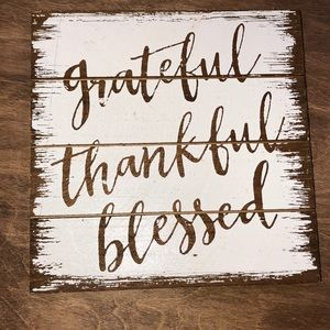 Hobby Lobby grateful, thankful, blessed small sign